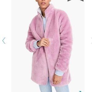 J. Crew | Zip-up plush fleece coat